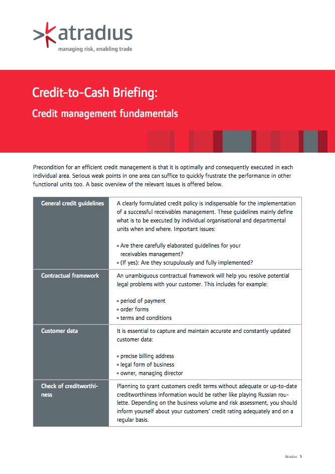 Credit-to-Cash Briefing - Credit management fundamentals