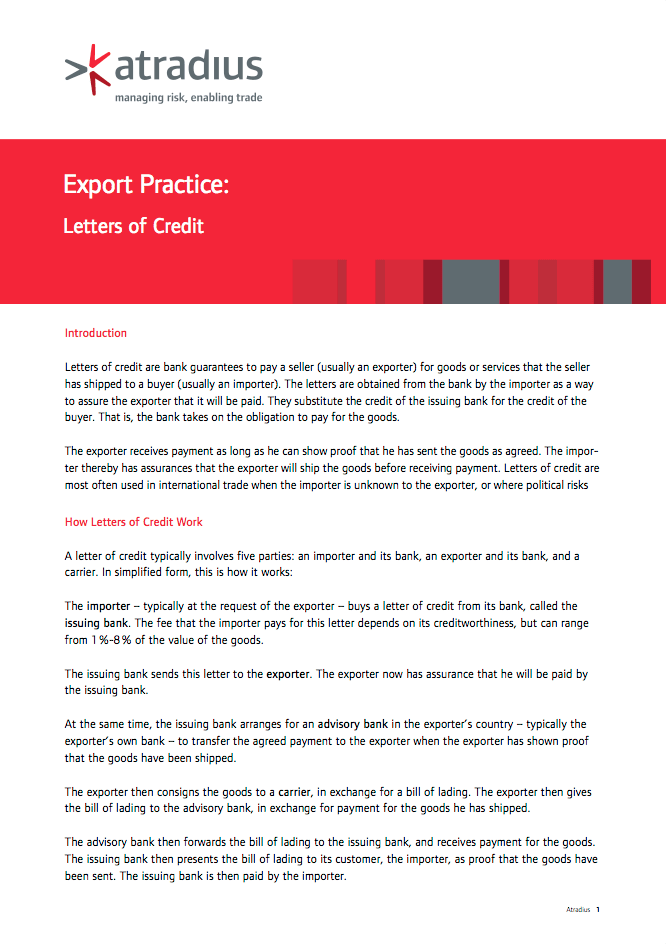Export Practice - Letters of Credit