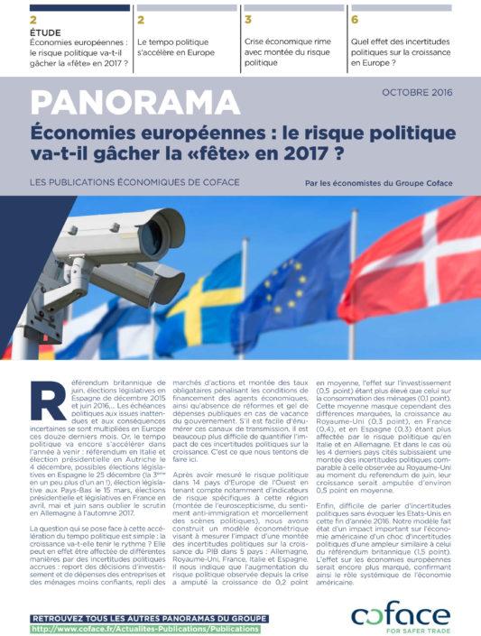 Panorama Risque Politique