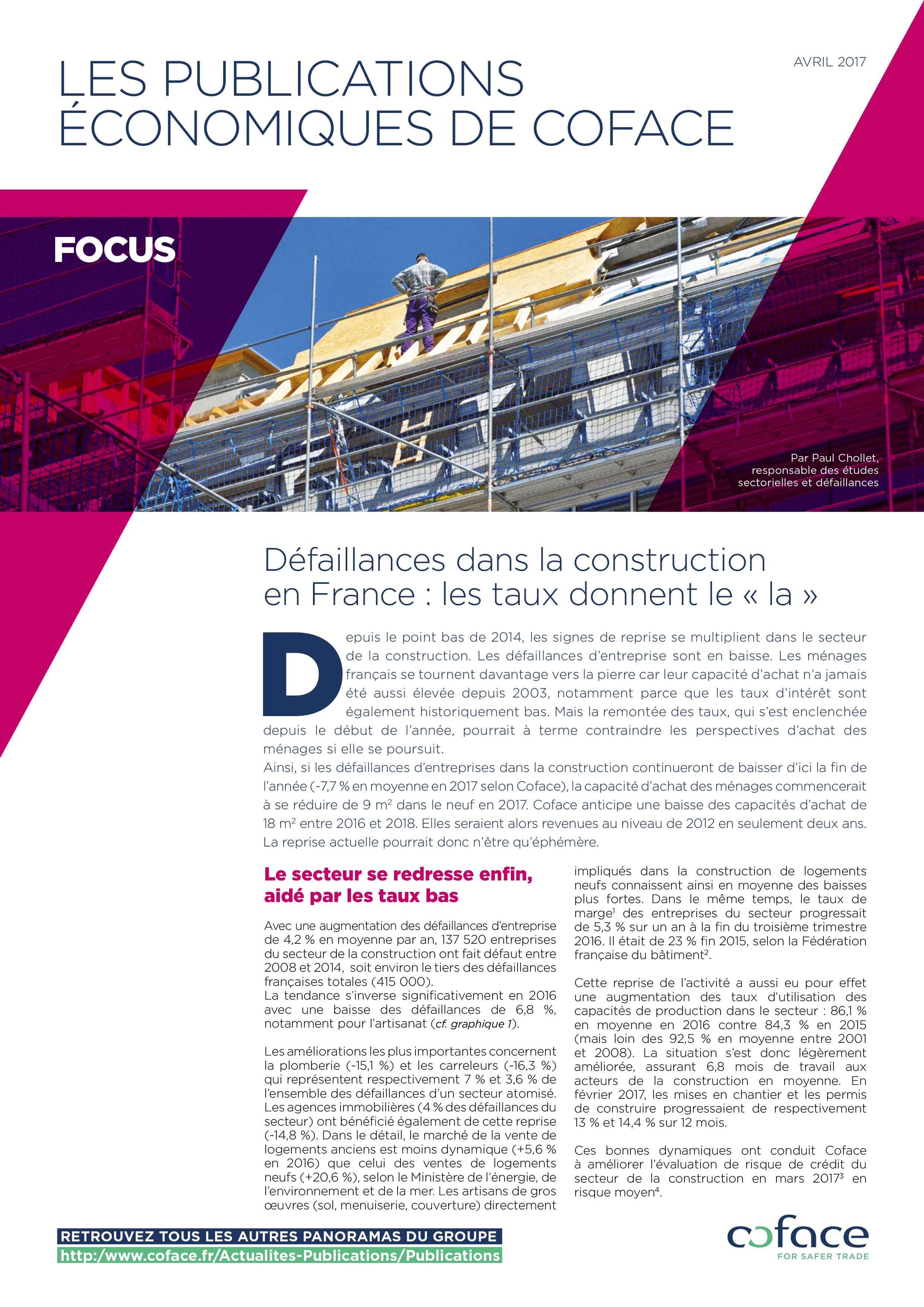 Défaillances dans la construction en France : les taux donnent le « la »