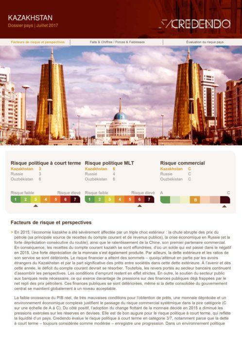Dossier Pays : Kazakhstan – Juillet 2017