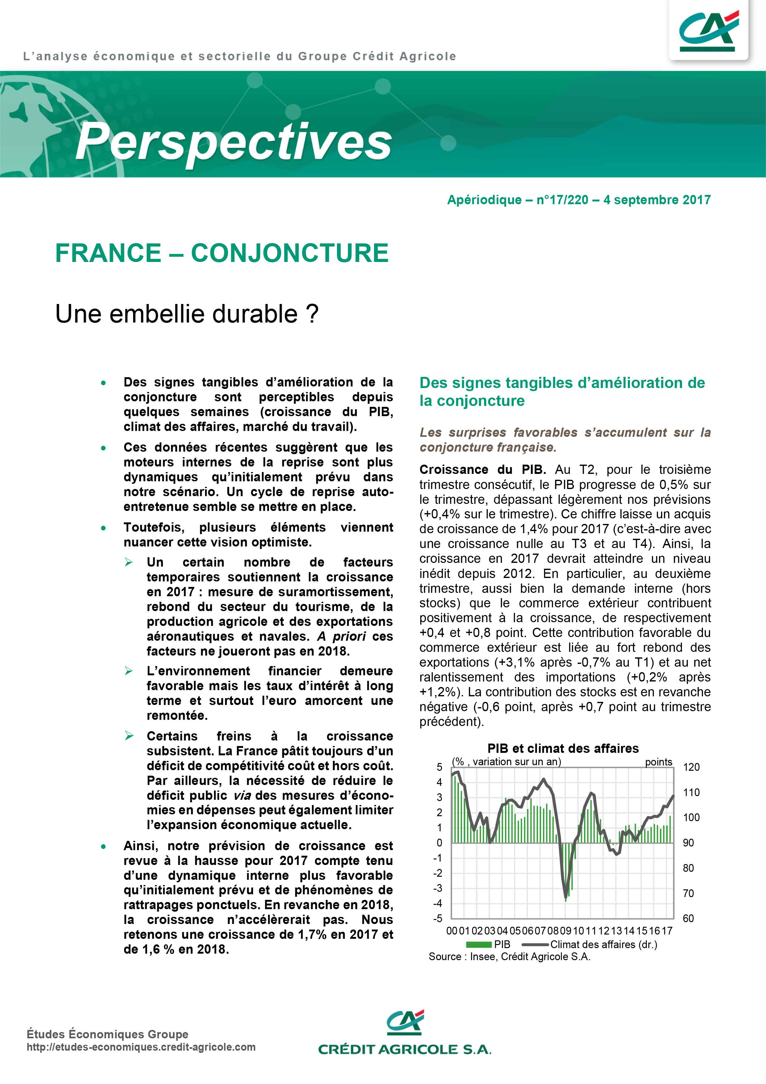 France - Une embellie durable ?