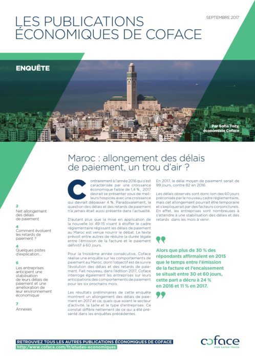Maroc : allongement des délais de paiement, un trou d'air ?