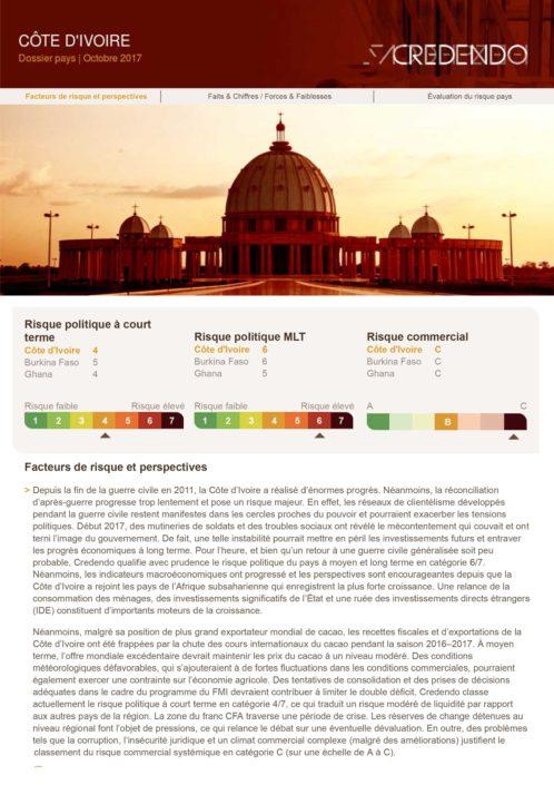 Dossier Pays : Côte d'Ivoire – Octobre 2017