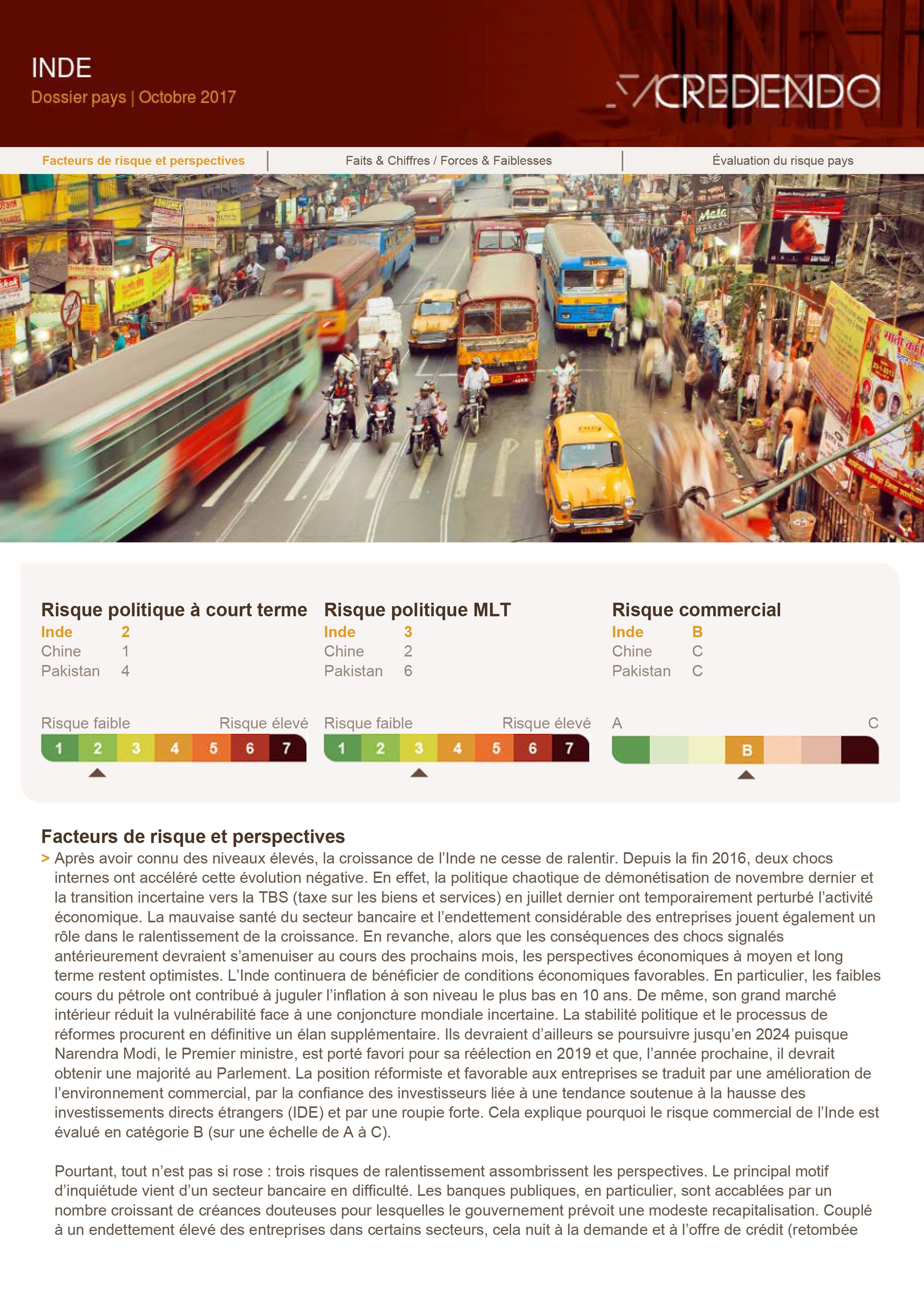 Dossier Pays : Inde – Octobre 2017