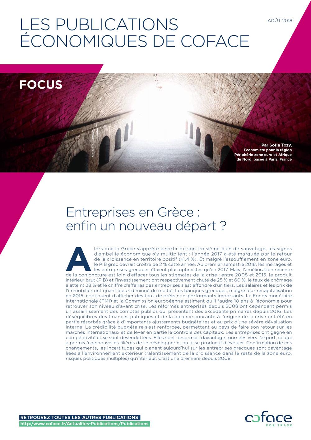 Entreprises en Grèce : enfin un nouveau départ ?
