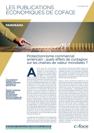Protectionnisme commercial américain : quels effets de contagion sur les chaînes de valeur mondiales ?