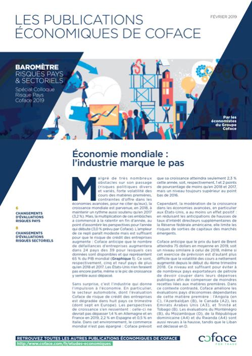 Économie mondiale: l'industrie marque le pas