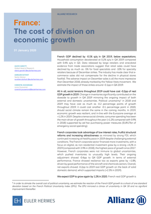 The cost of division on economic growth