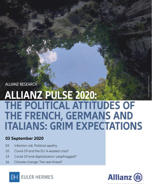 Allianz Pulse 2020: the political attitudes of the French, Germans and Italians: grim expectations