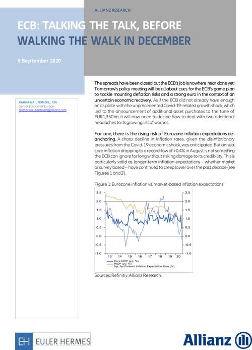 ECB: talking the talk, before walking the walk in December